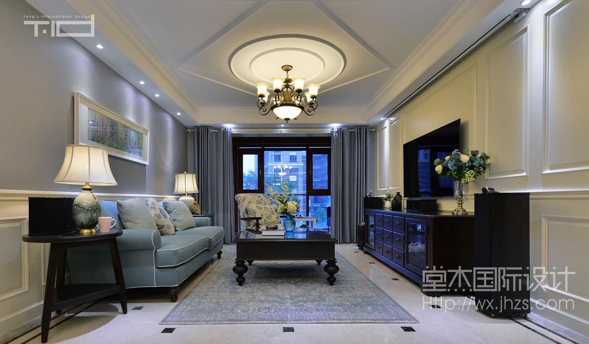 天元世家270平复式现代美式风格实景样板间
