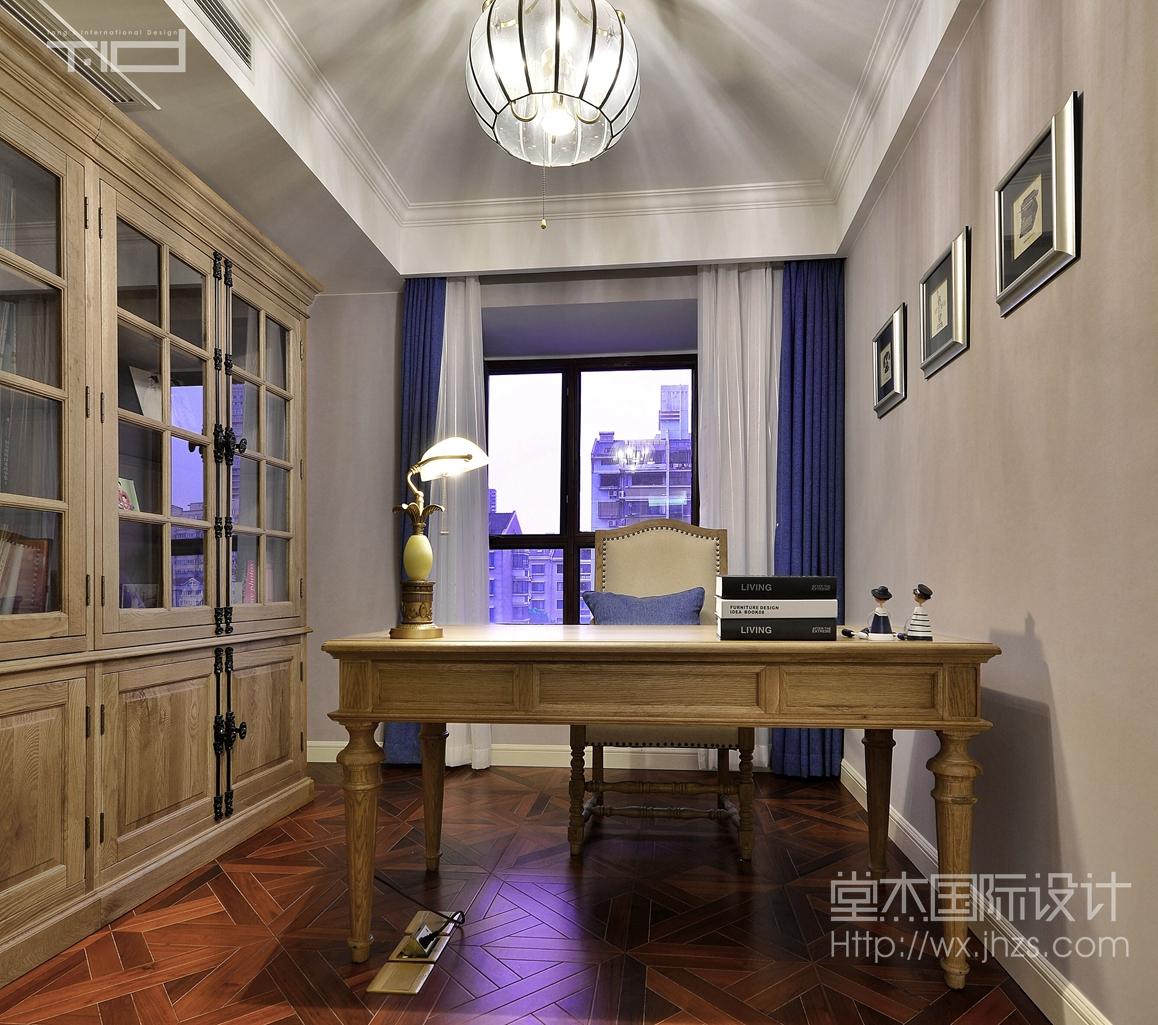 天元世家270平复式现代美式风格实景样板间装修-跃层复式-美式田园图片