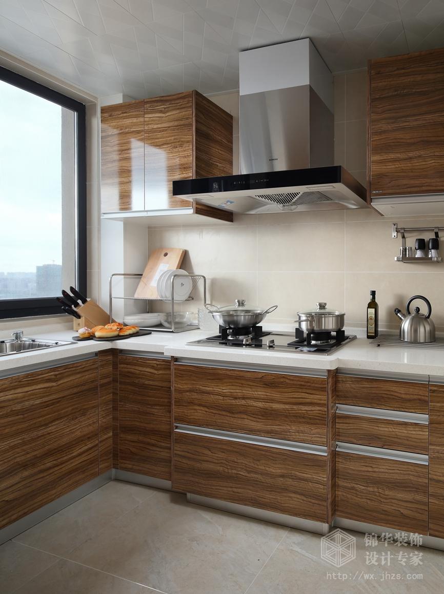 北欧风格-长江国际泓园-三室两厅-118平-厨房-装修效果实景图