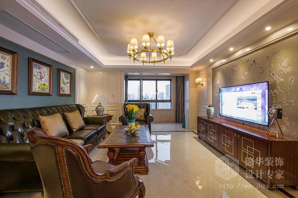 现代美式风格-山韵佳苑-三室两厅-140平米-装修实景样板间