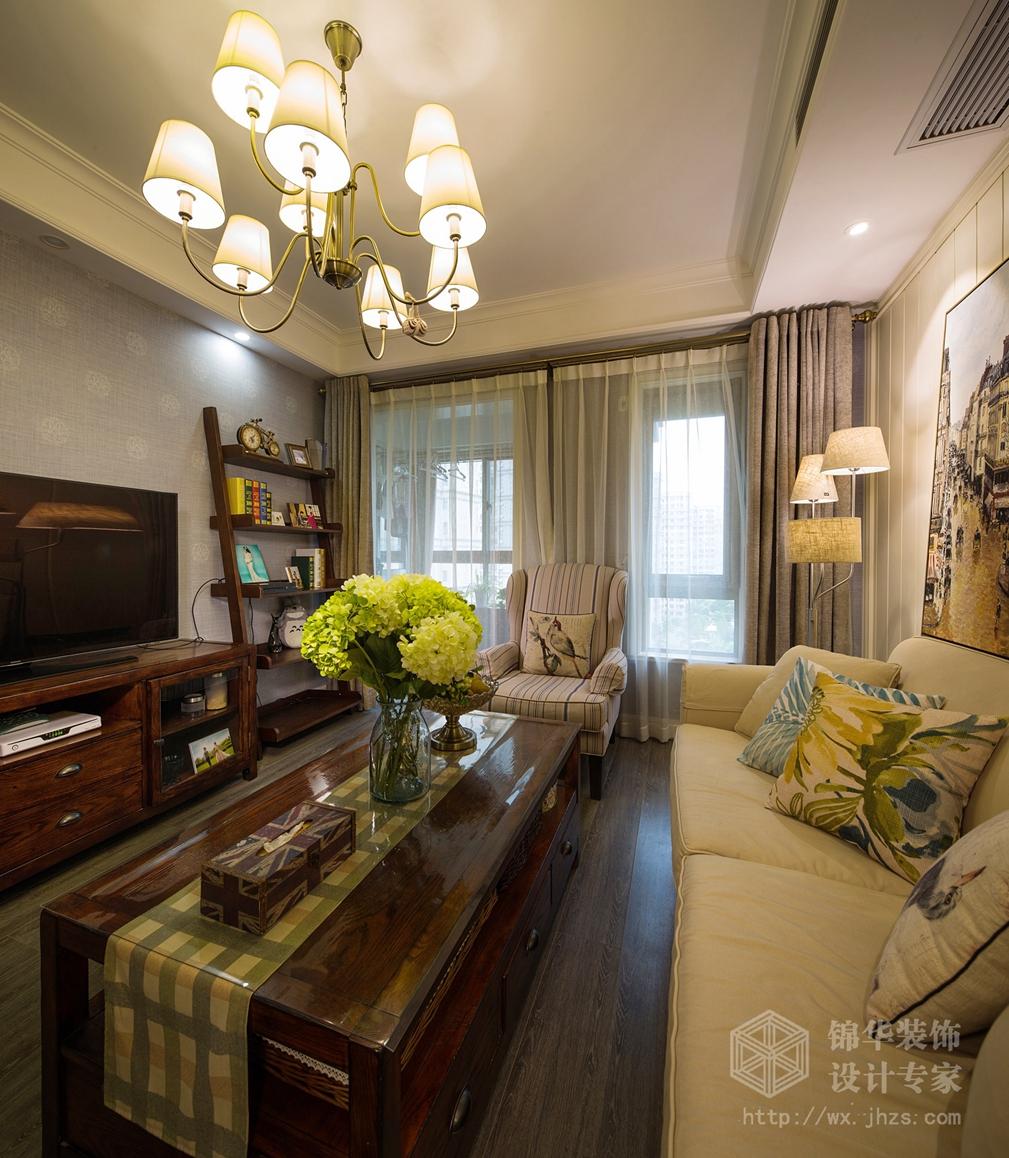 太湖国际89平两室两厅现代美式风格实景图