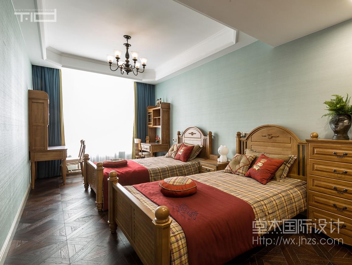 美式风格-保利达江湾城-大户型-206平-卧室-装修效果实景图
