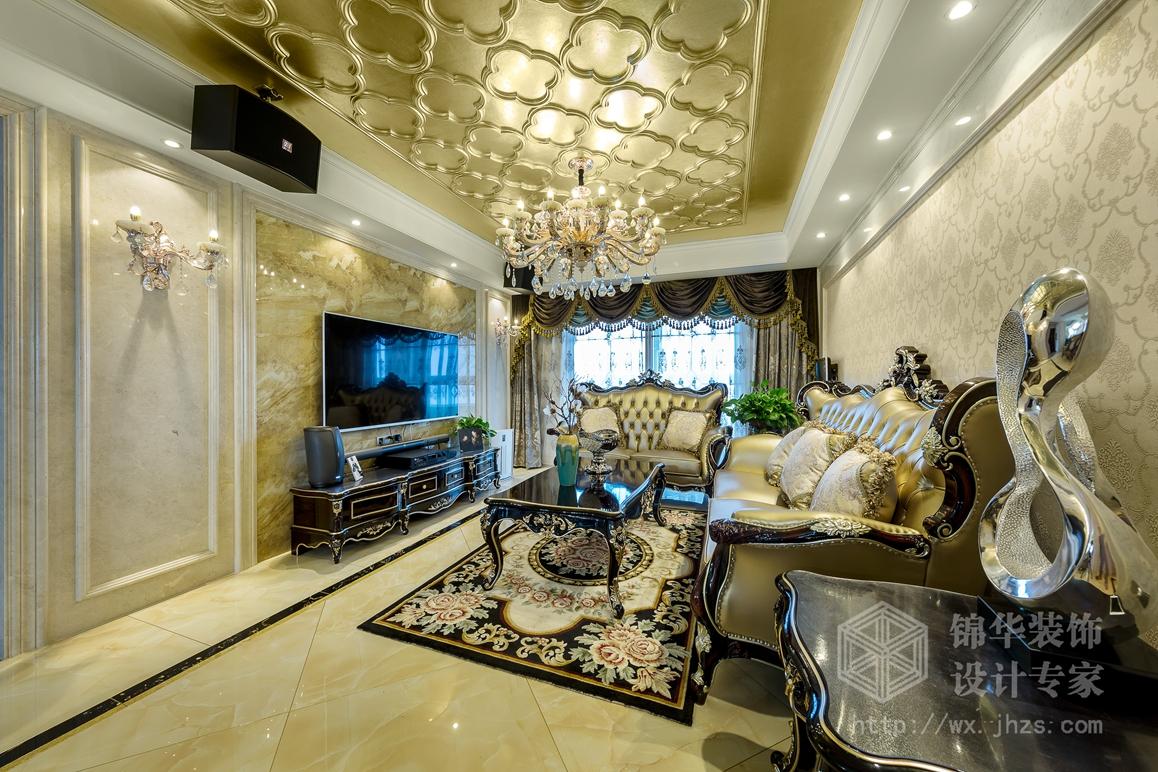 和风家园150平欧式新古典风格实景样板间装修-大户型-新古典图片