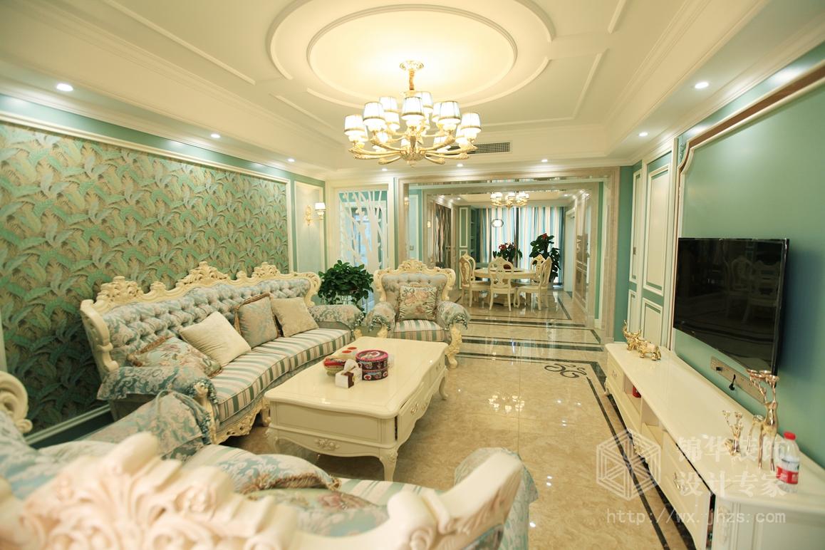 东湖公馆190平欧式风格实景样板间装修-大户型-简欧图片