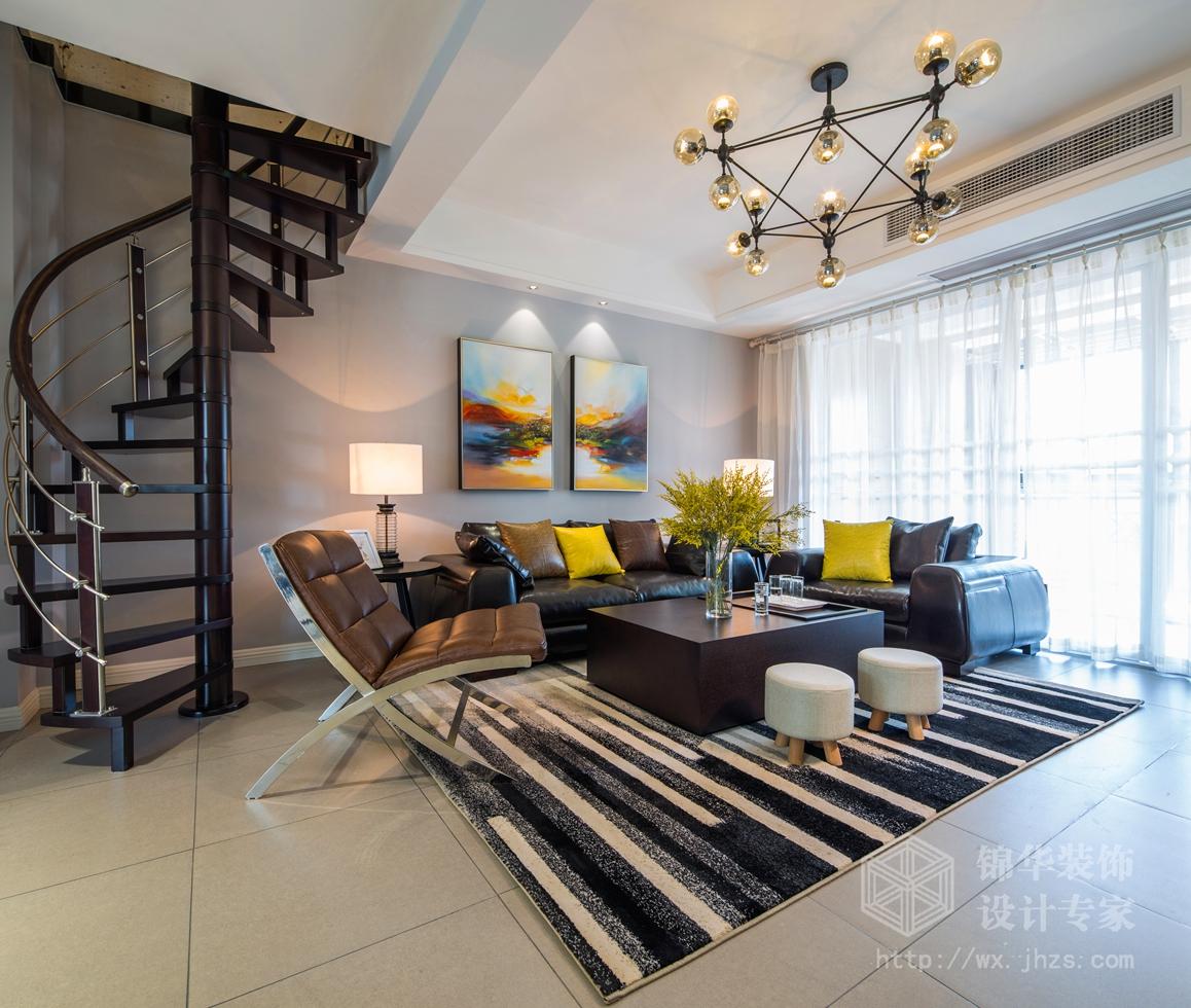 现代简约-康诗丹郡-三室两厅-126平-装修实景效果图