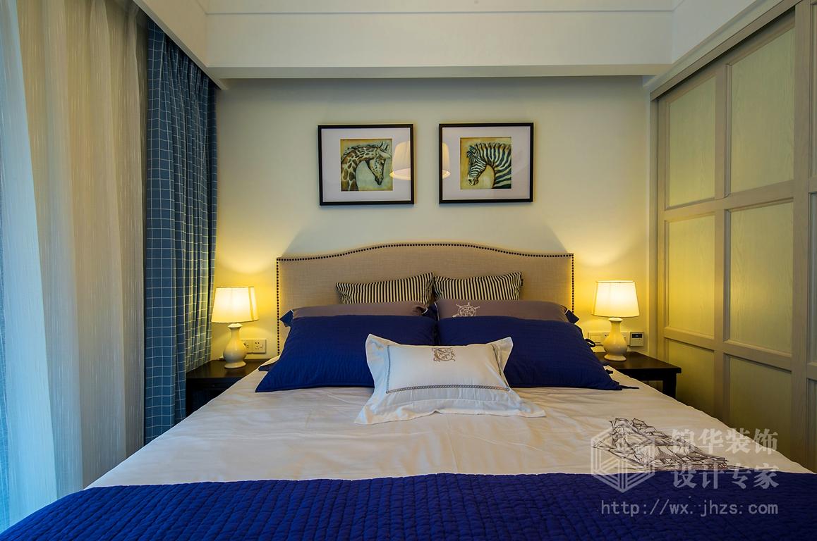 长江国际140平简约美式风格实景图装修-三室两厅