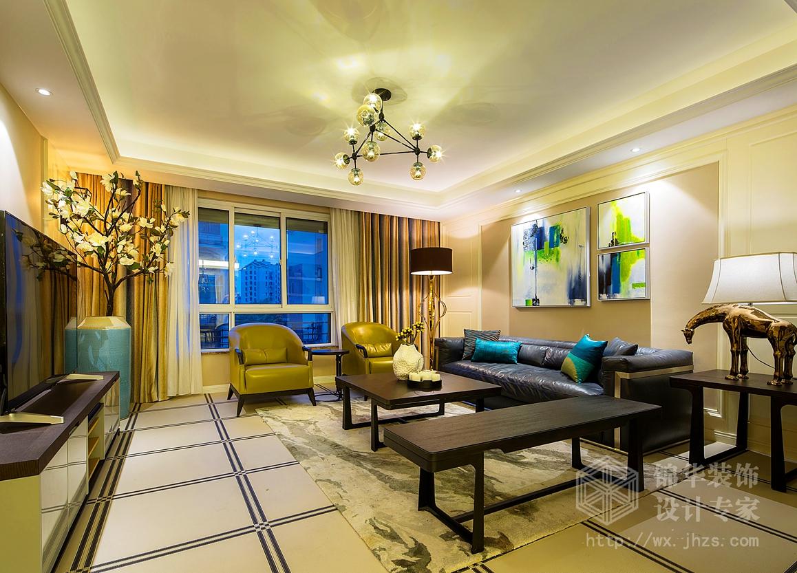 现代简约-首创隽府-三室两厅-120平-装修实景效果图
