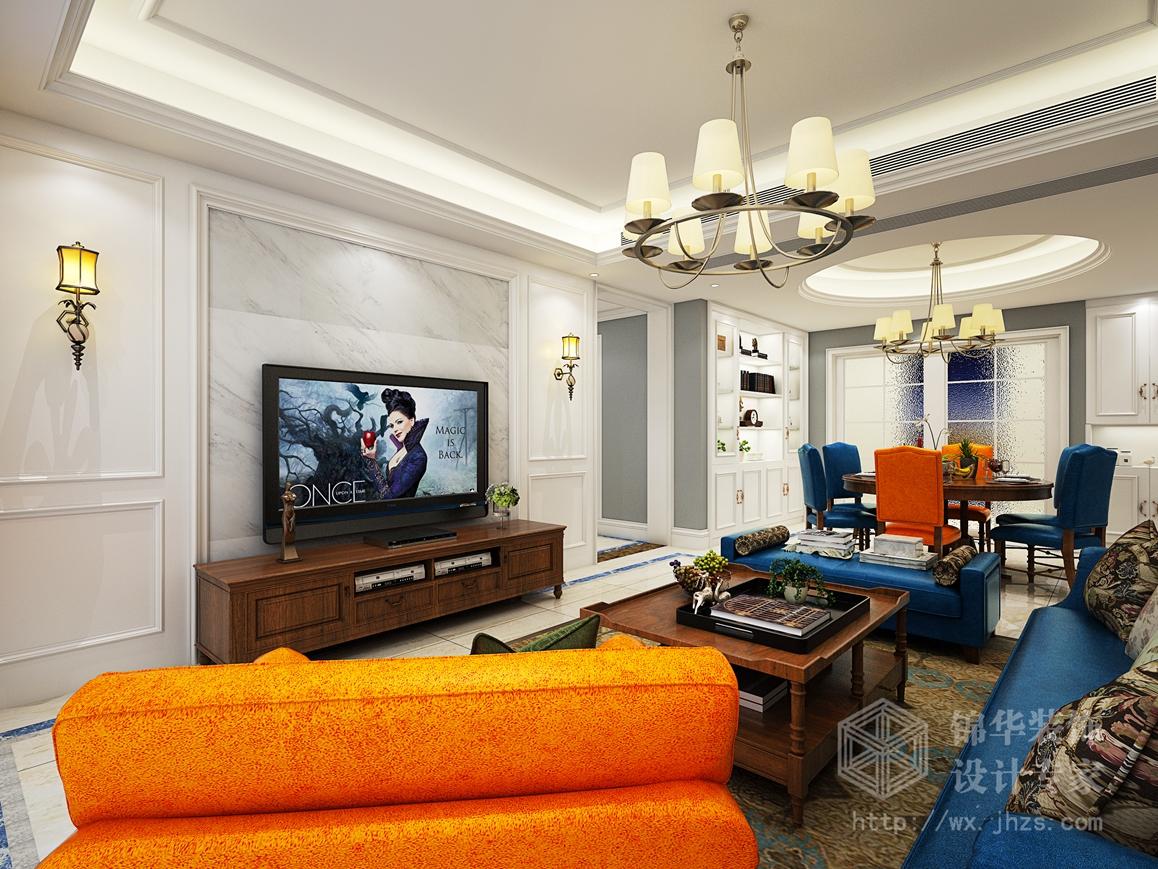 保利中央公园140平四室两厅两卫现代简美风格效果图