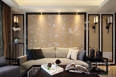 新中式风格-九龙仓碧玺-三室一厅-99平-装修效果实景图