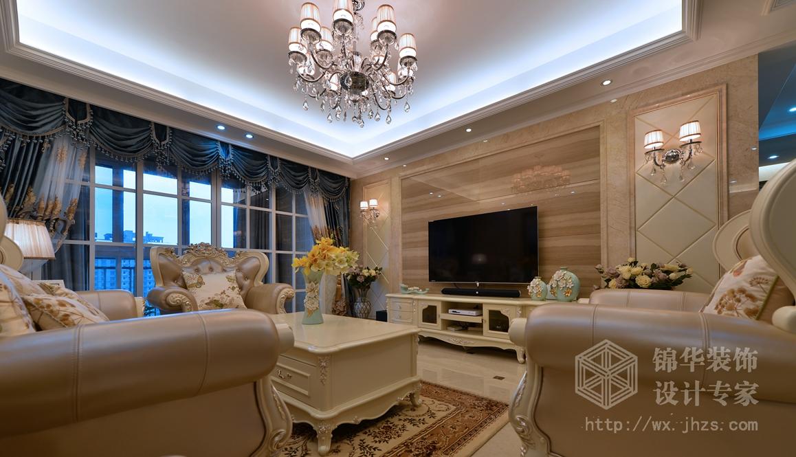 红星国际140平四室两厅两卫简欧风格实景图