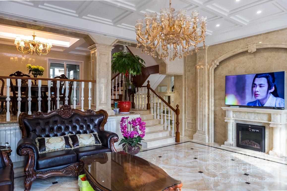 吉星家园240平欧式风格实景样板间装修-大户型-欧式古典图片