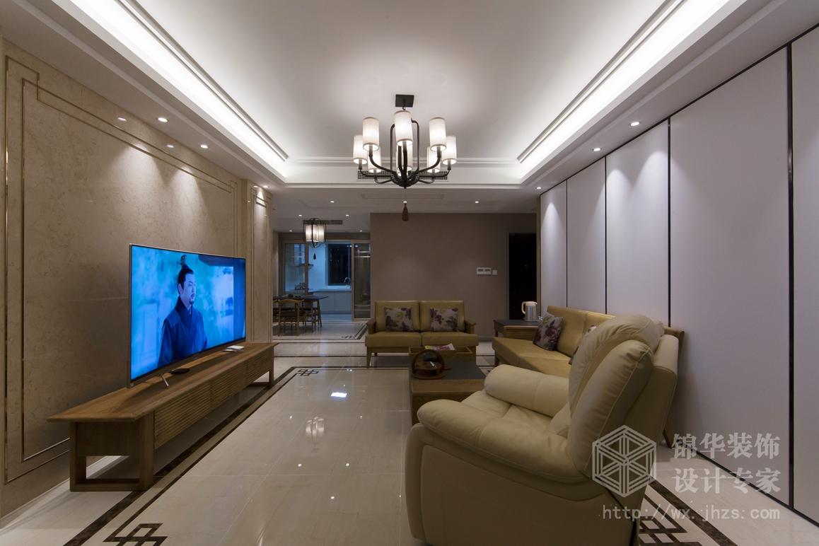 新中式风格-维纳阳光-四室两厅-140平米-装修效果实景图