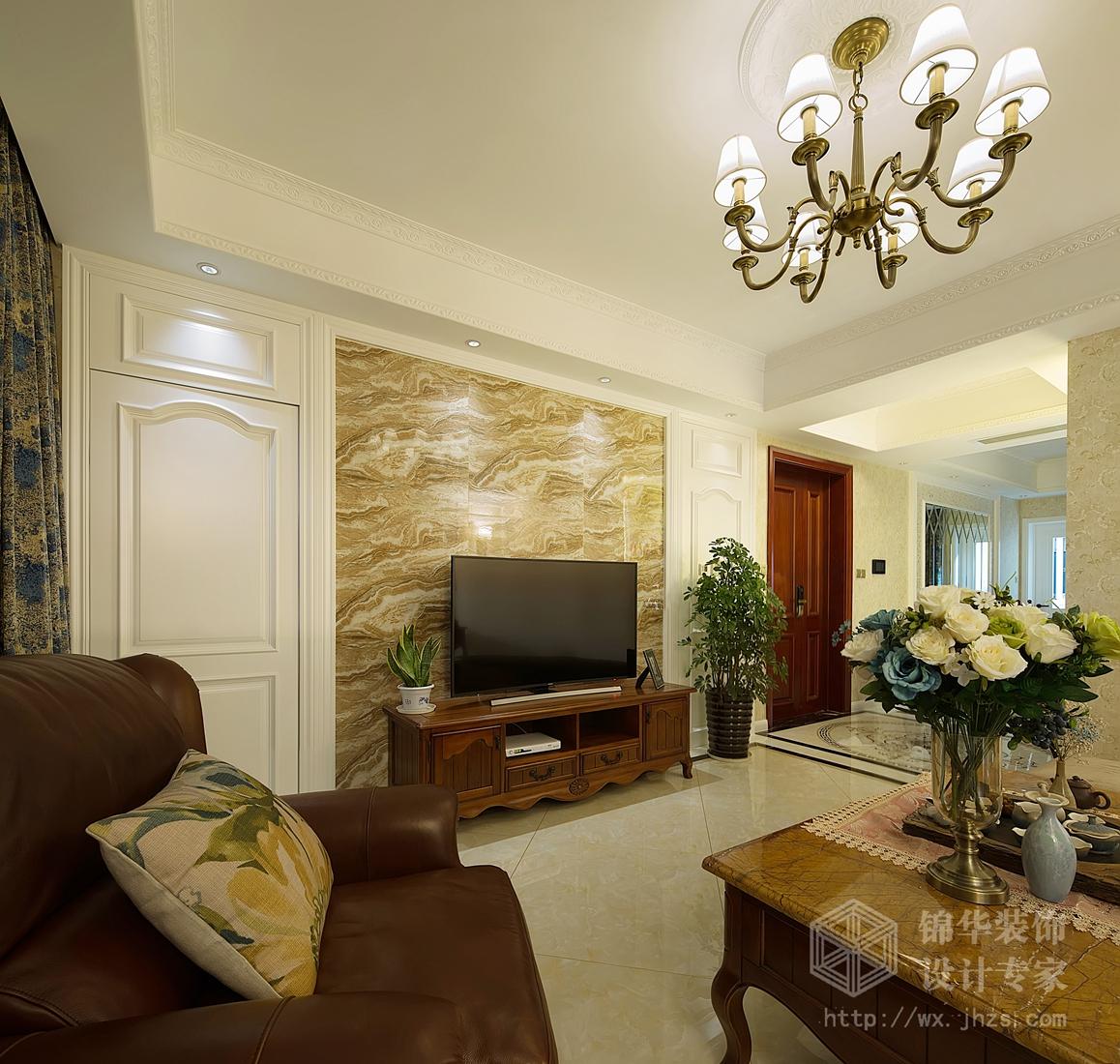玉兰东花园170平三室两厅两卫欧美混搭风格实景图