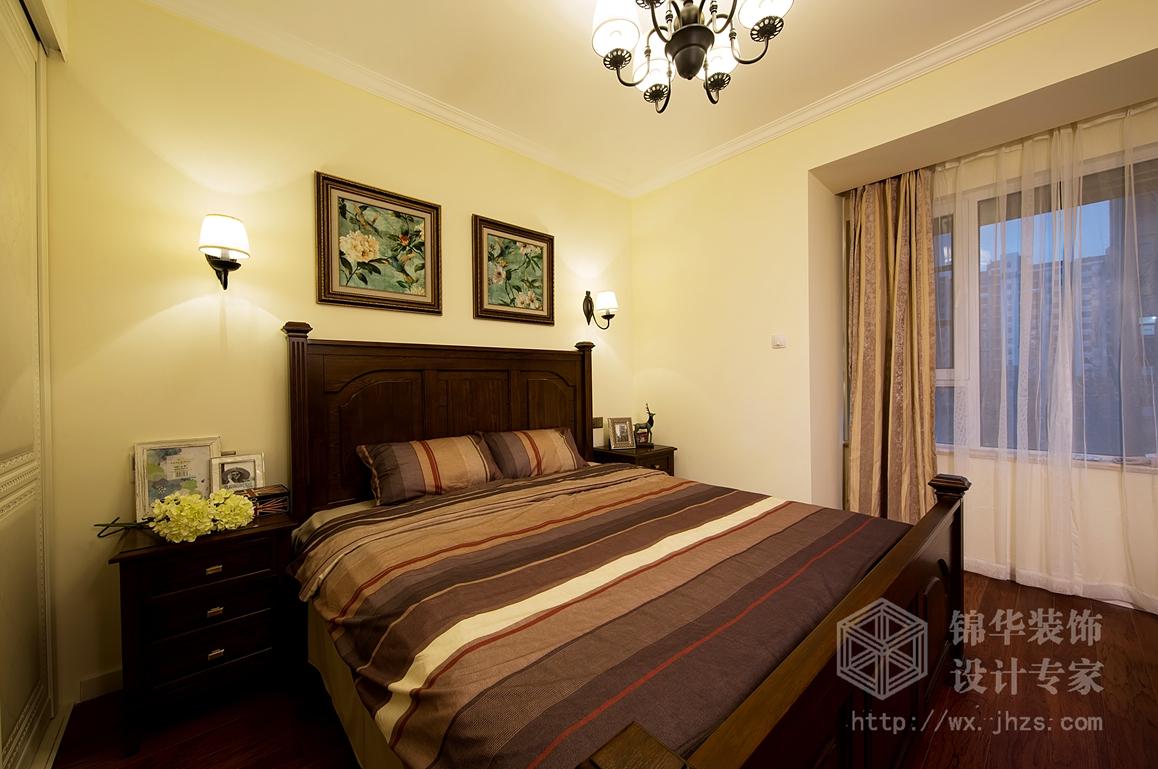 保利香槟140平三室两厅两卫小美式风格实景图装修-三室两厅-简约美式图片