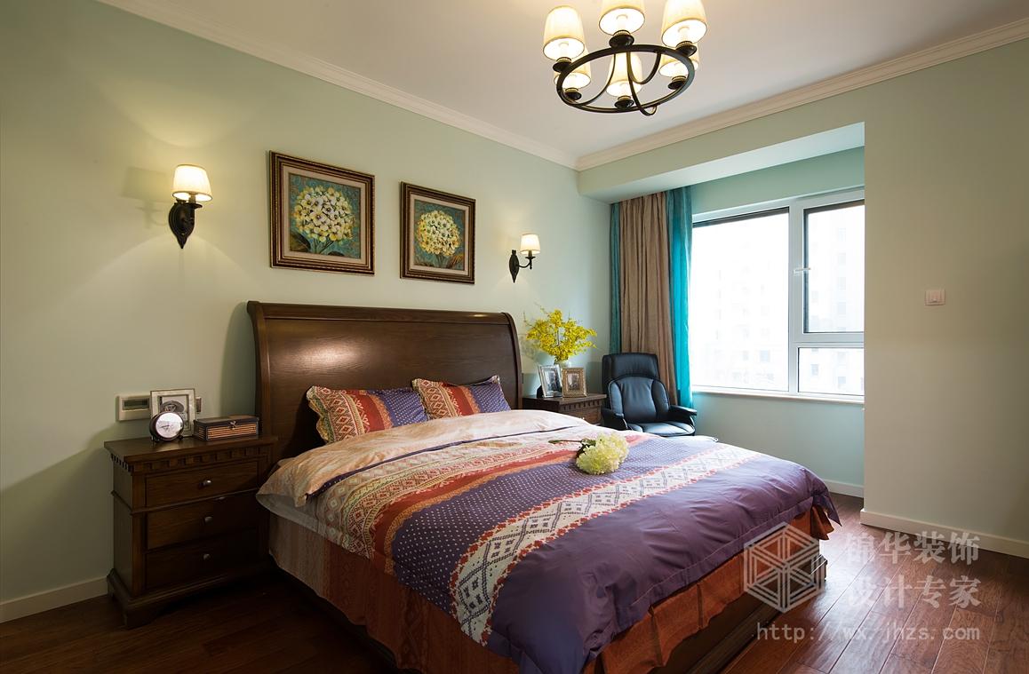 保利香槟140平三室两厅两卫小美式风格实景图装修-三室两厅-简美图片