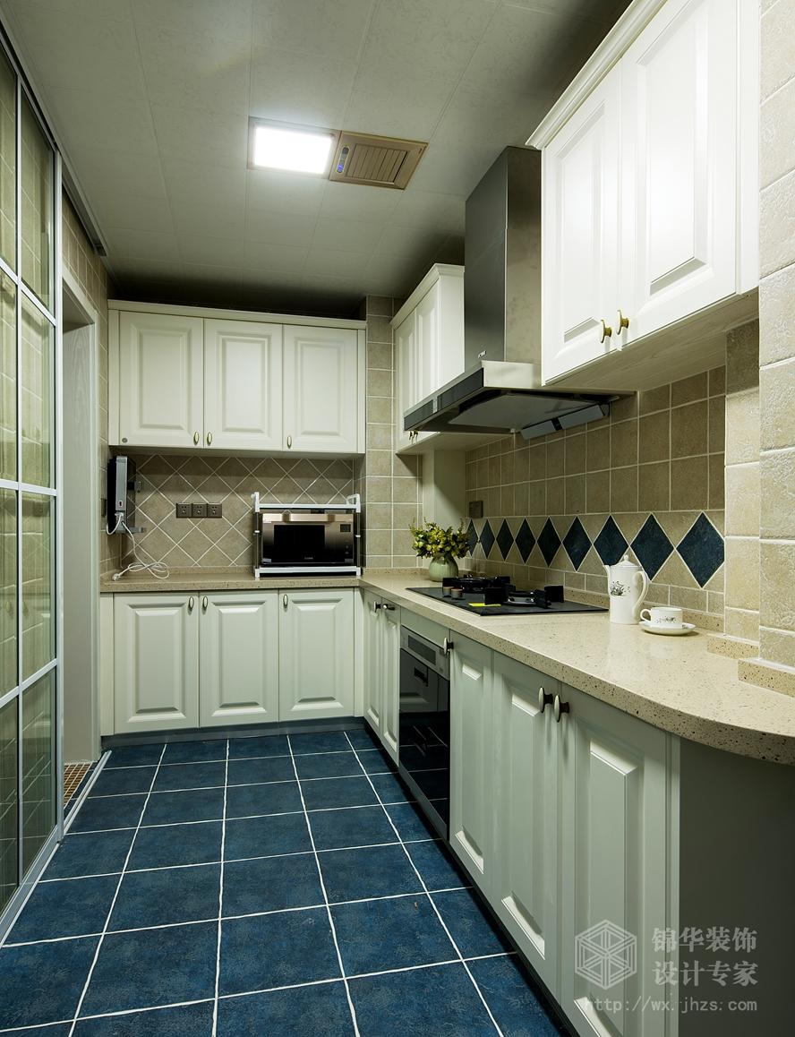保利香槟140平三室两厅两卫小美式风格实景图装修-三室两厅-简美