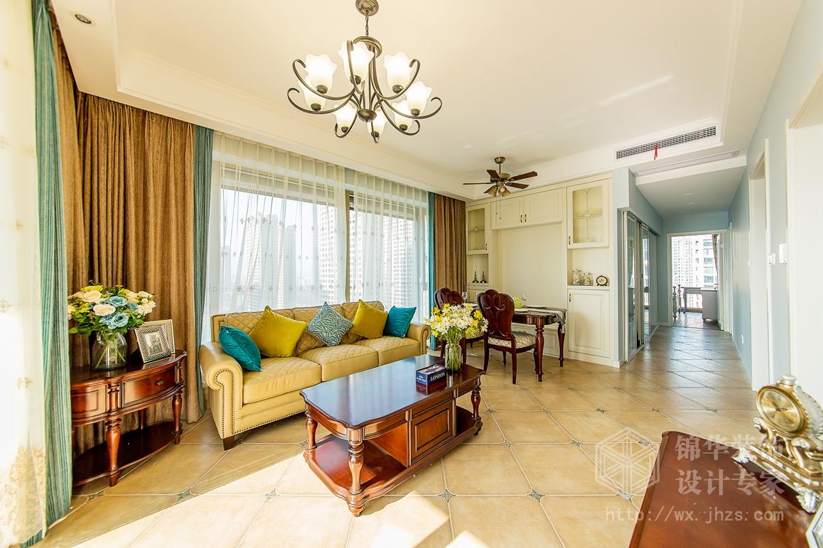 玉兰花园92平两室两厅美式风格实景图