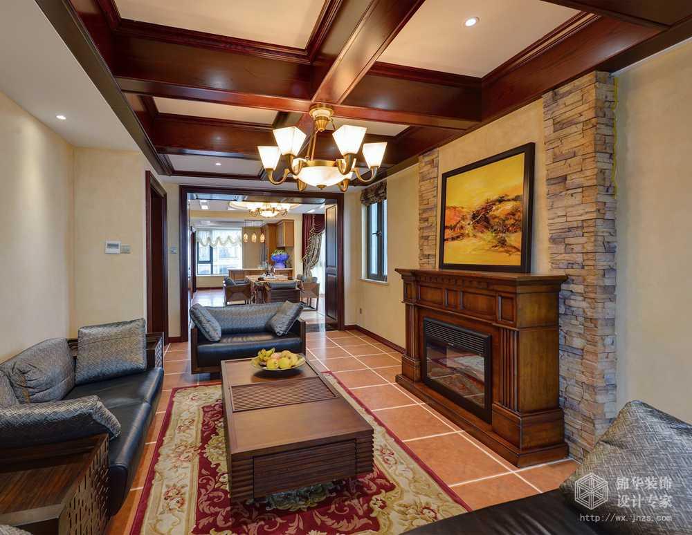 日湖花园220平四室两厅两卫意大利托斯卡纳风格实景图