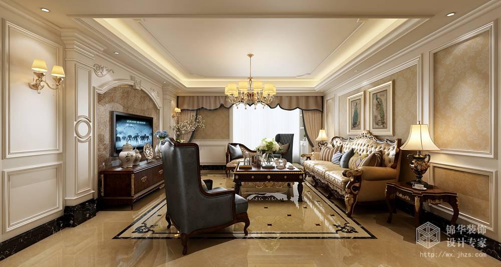 五月花城175平四室两厅两卫欧式风格效果图