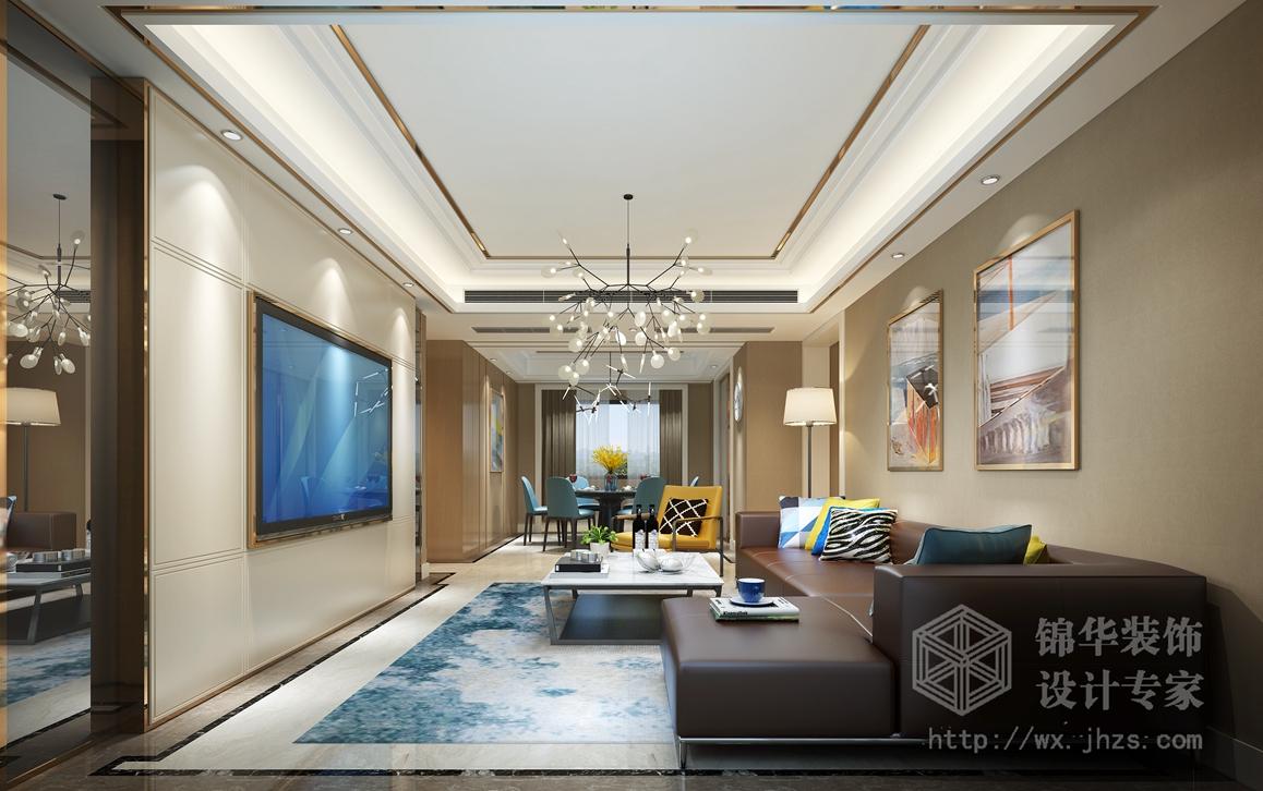美式简约-九龙仓碧玺-三室两厅-136平-装修效果图