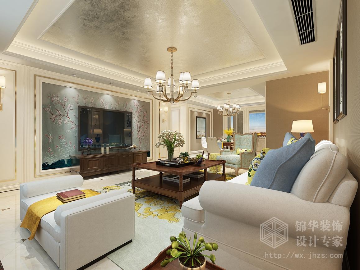 简美风格-融科玖玖城-三室两厅-150平-装修效果图