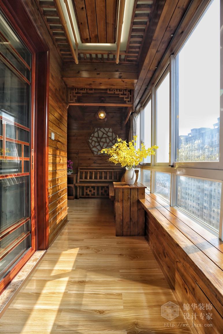 室外新中式地板雕花