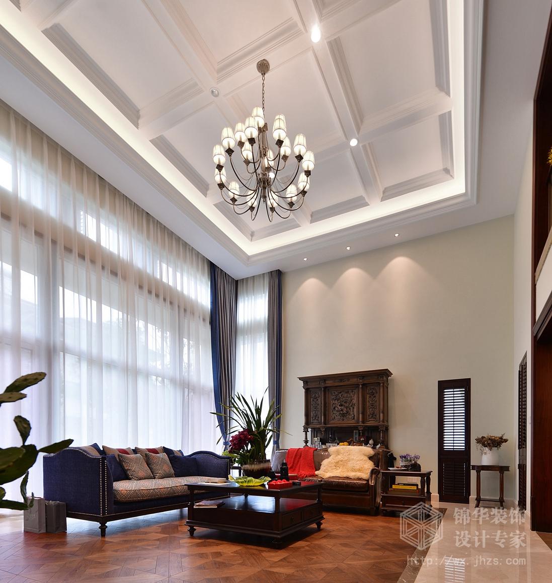 太湖湾360平五室三厅三卫混搭风格实景图