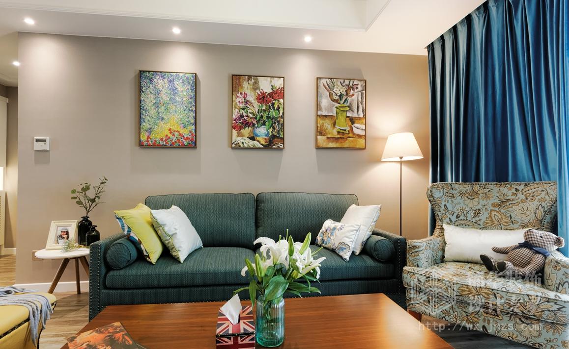 时代上城127平三室两厅一卫现代混搭风格实景图