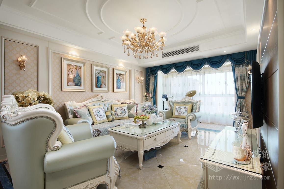 世茂首府140平三室两厅两卫简欧风格实景图