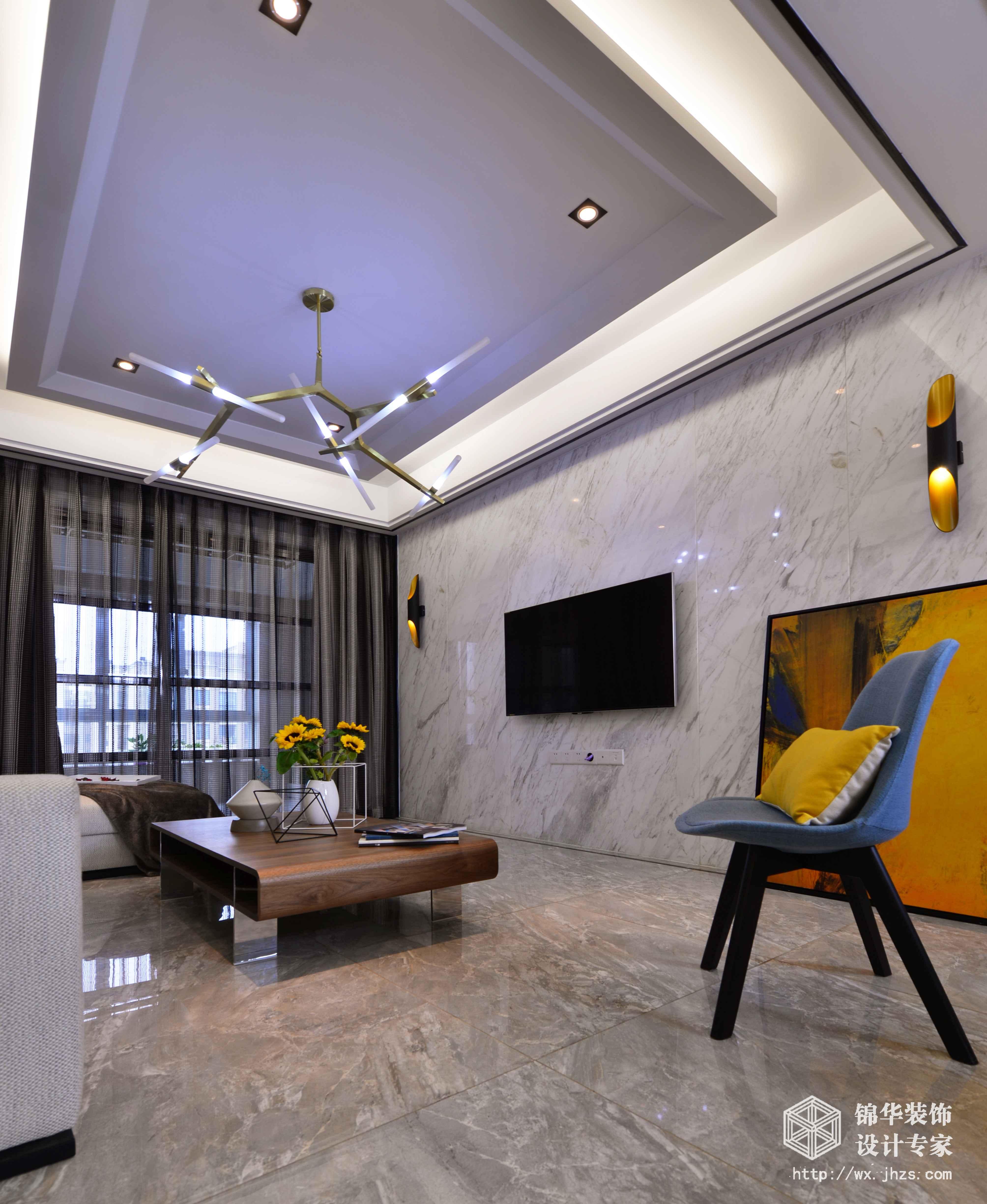 现代简约-理想城市-三室两厅-134平-装修效果实景图