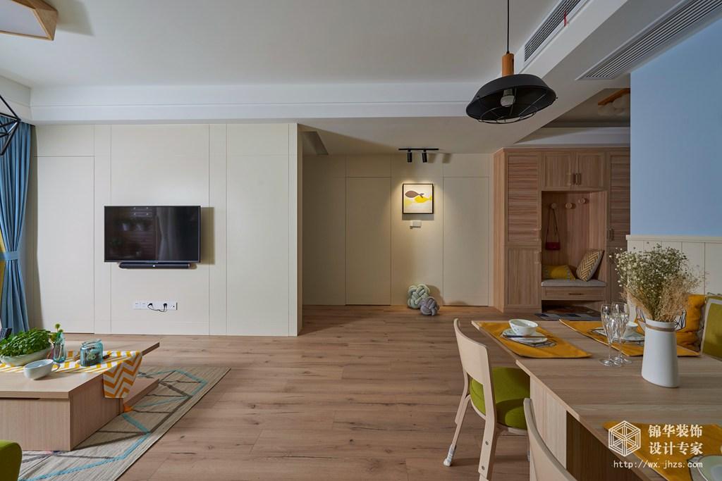 西水东100平三室两厅一卫北欧风格实景图