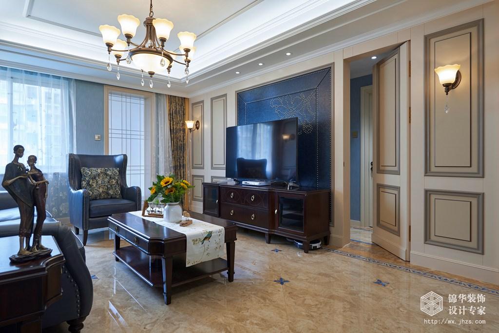 阳光城市花园160平四室两厅两卫美式实景图装修-四室两厅-简约美式