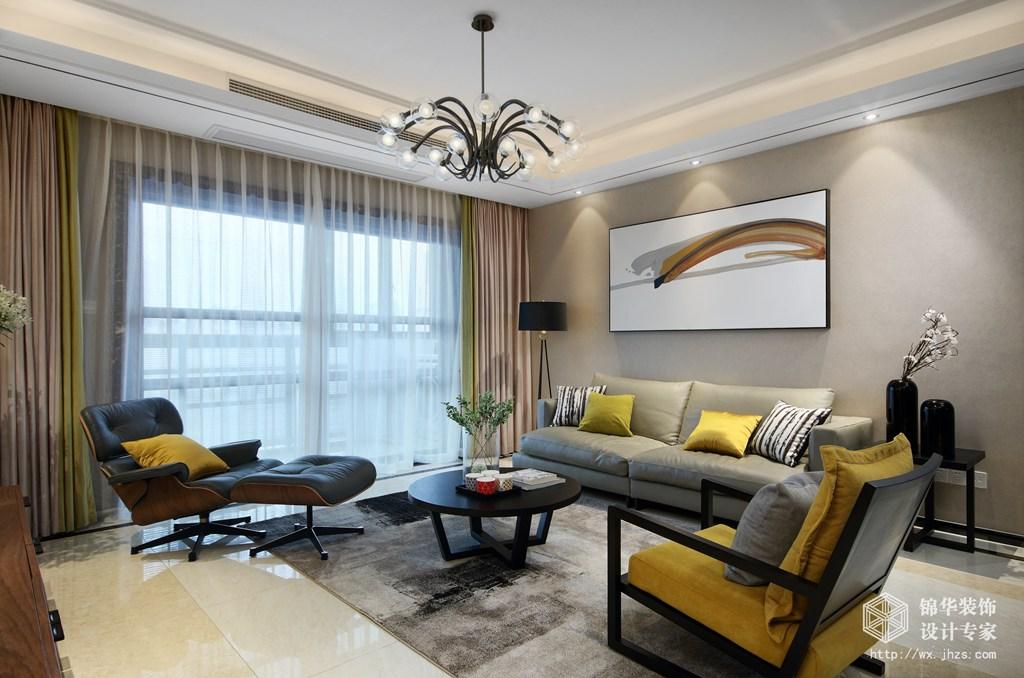 京梁合180平四室两厅两卫现代风格实景图