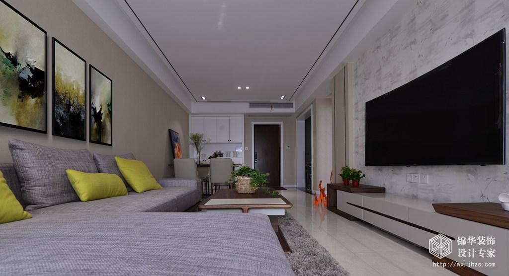 现代简约-繁华里-三室两厅-108平-装修效果实景图