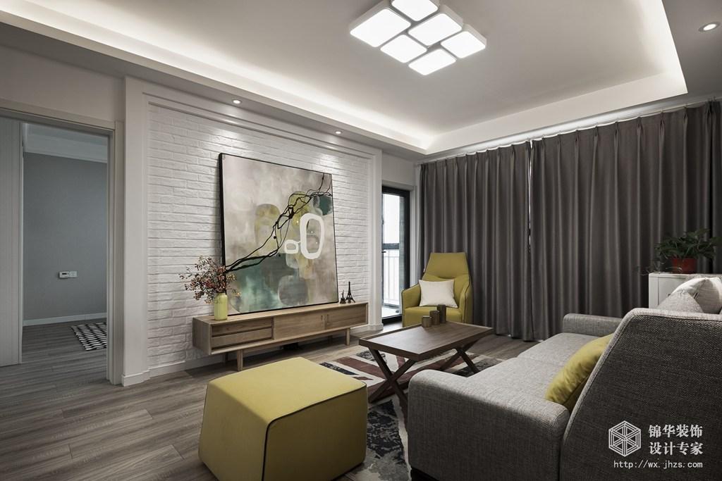 长江国际泓园88平北欧风格实景样板间装修-三室两厅-北欧图片