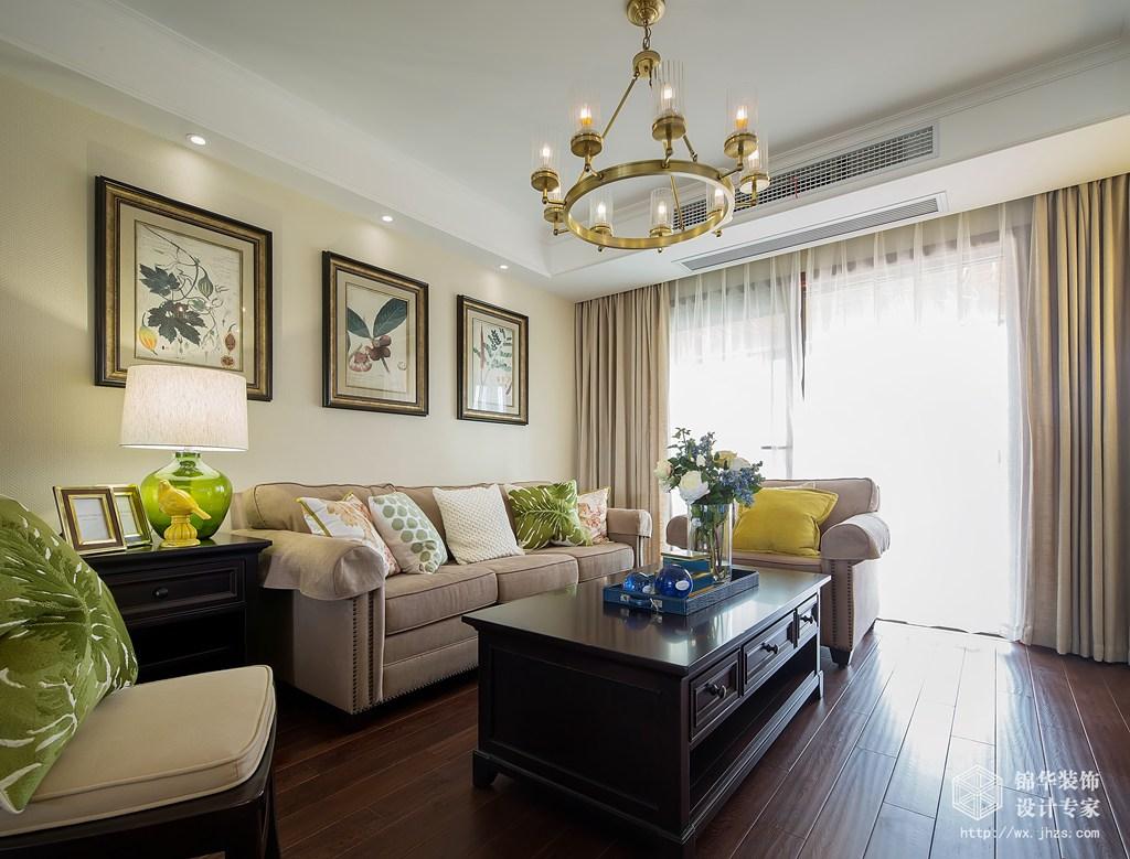 九龙仓碧玺140平简约美式风格样板间装修-三室两厅-简约美式