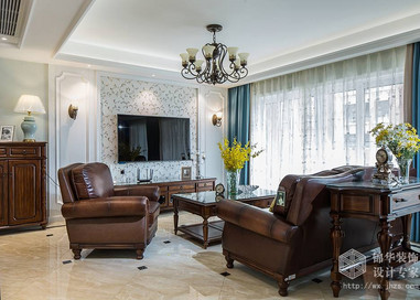 美式风格-中海珑玺-四室两厅-137平-装修实景效果图