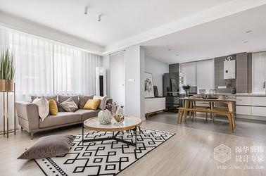 北欧风格-五河苑-三室两厅-89平-装修效果实景图