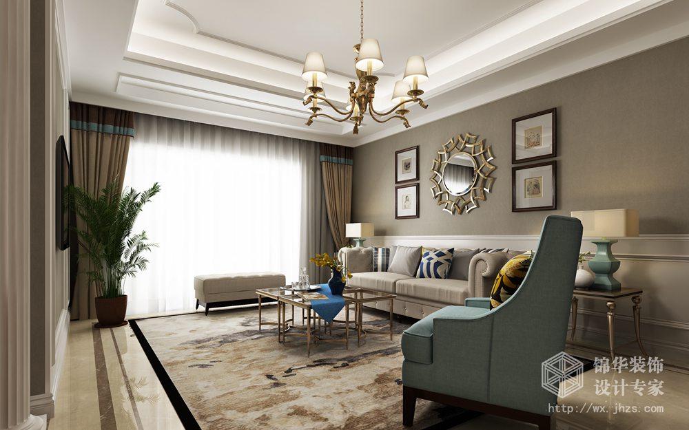 中隆怡东雅苑125平现代美式风格效果图