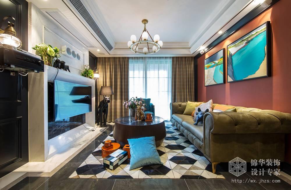 混搭风格-保利中央公园-两室两厅-98平-装修实景样板间