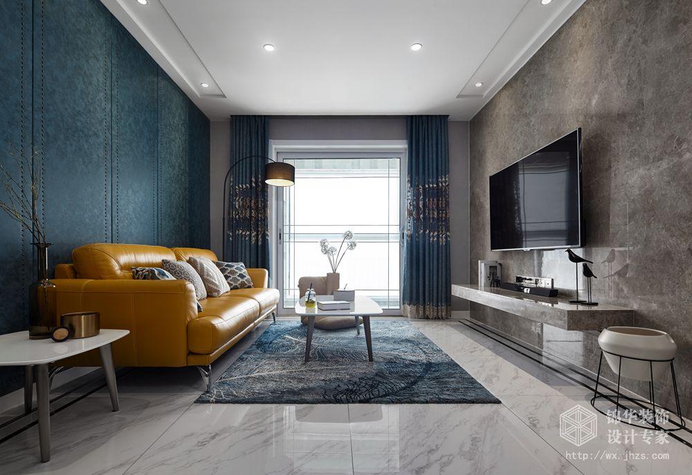 现代风格-中城誉品-三室两厅-88平-装修实景效果图