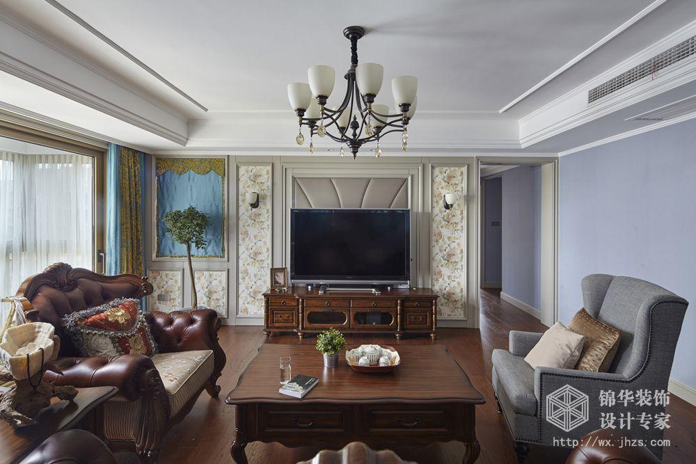 美式风格-栖霞栖园-三室两厅-装修效果实景图