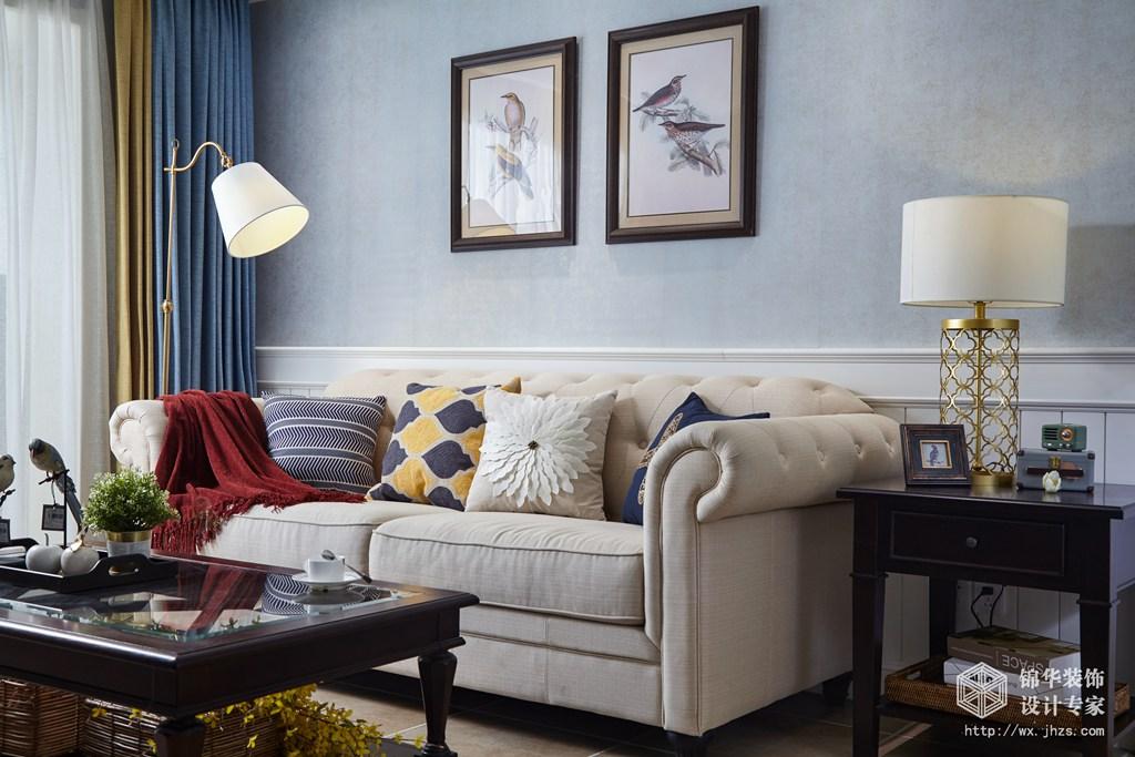 红豆香江豪庭89平两室两厅美式风格实景图