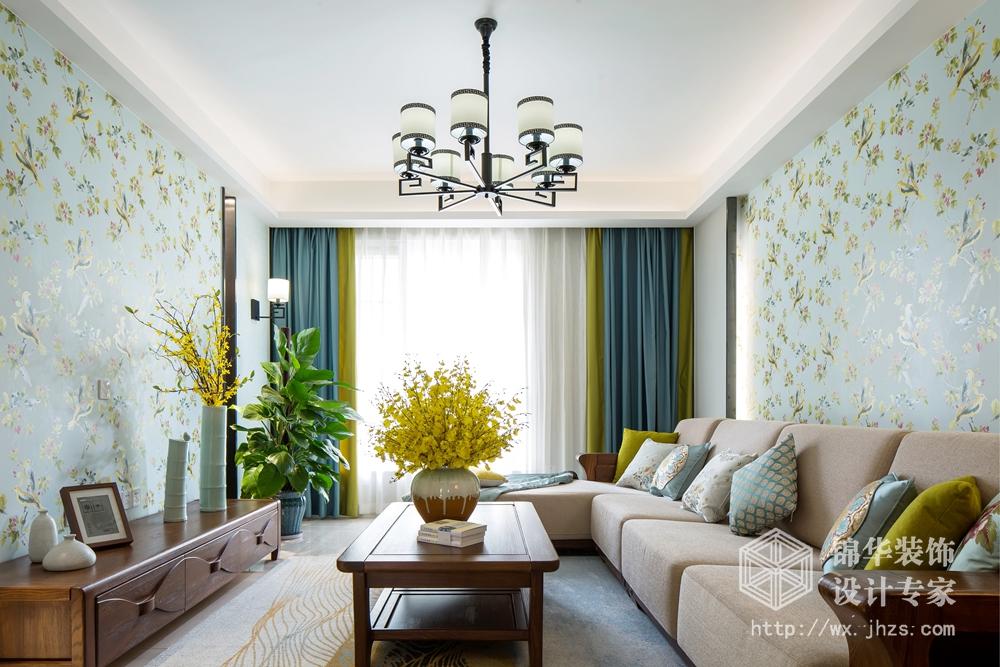 建乐家园140平新中式风格实景图