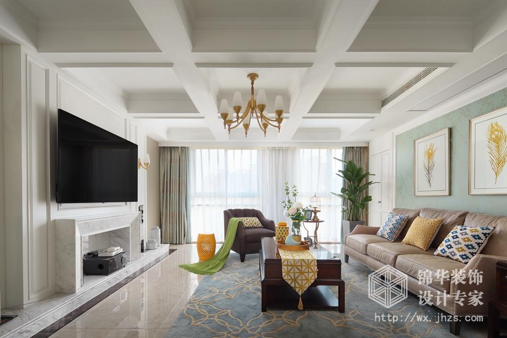 长江国际190平现代美式风格实景图