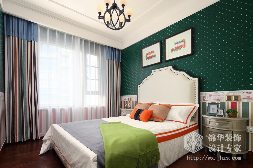 长江国际190平现代美式风格实景图装修-四室两厅-简约美式