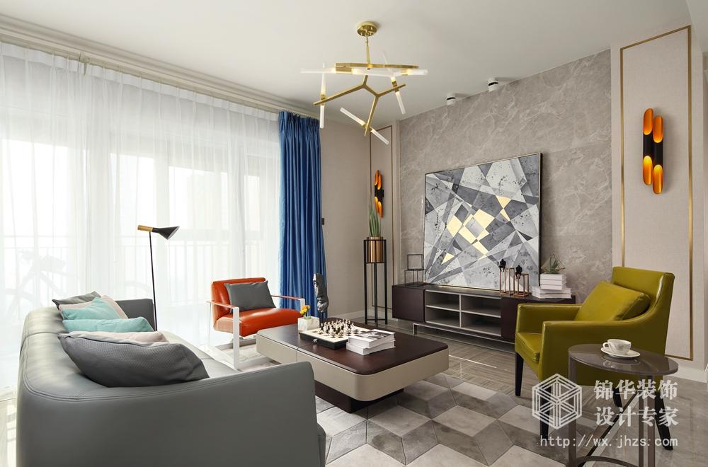 金科世界城122平现代简约风格实景图