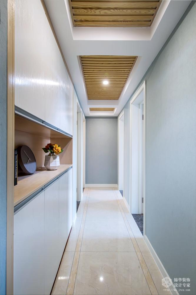 现代风格-保利中央公园-四室两厅-125平米-过道-装修实景效果图
