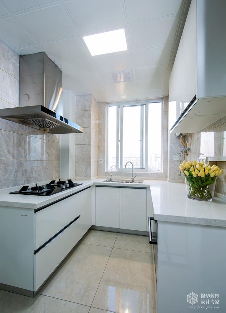 现代风格-保利中央公园-四室两厅-125平米-厨房-装修实景效果图