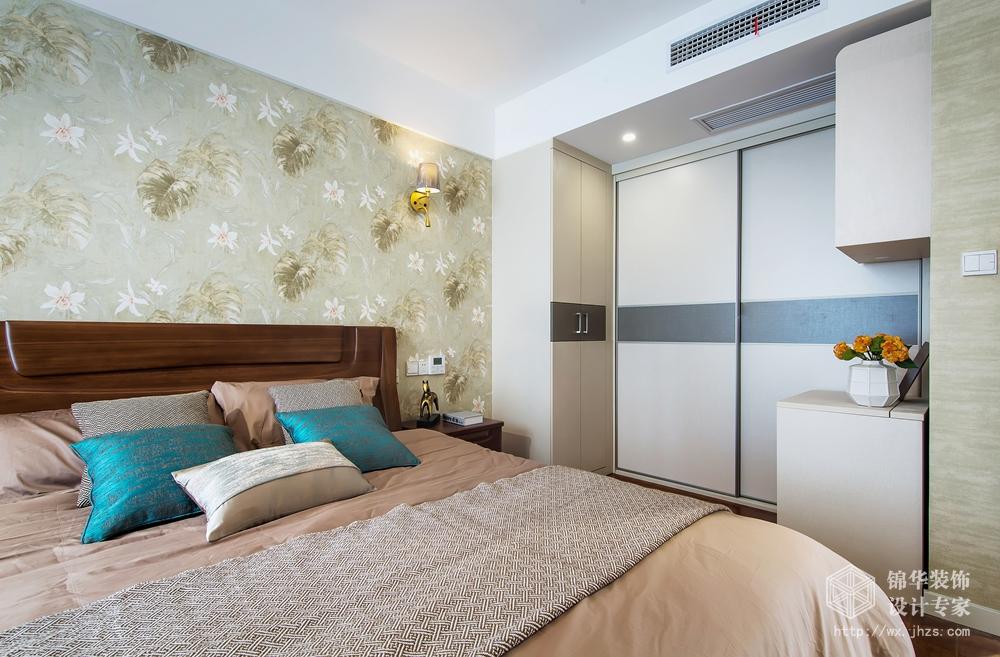 现代风格-保利中央公园-四室两厅-125平米-卧室-装修实景效果图